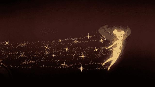Tinkerbell sprinkling pixie dust