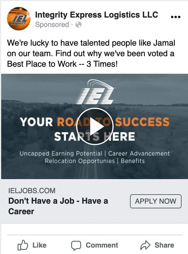 IEL Facebook ad