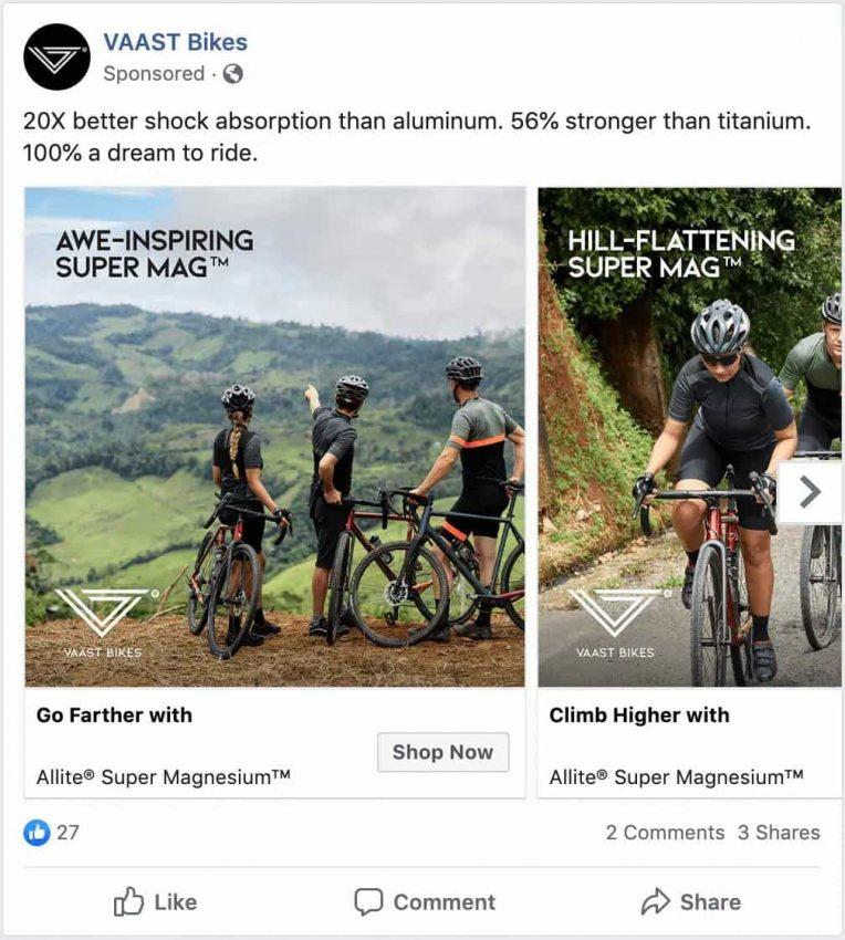 VAAST Facebook Ad