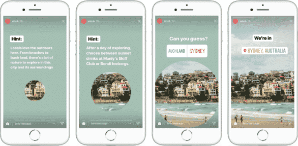instagram stories from airbnb, audience interaction